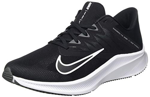 Nike Men's Quest 3 Running Shoes (Black/White-Iron Grey, 9.5)