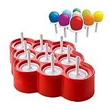 Eisformen BPA Frei Popsicle Formen Eis am Stiel und Eislutscher Formen aus Silikon Eis Pop Macher...