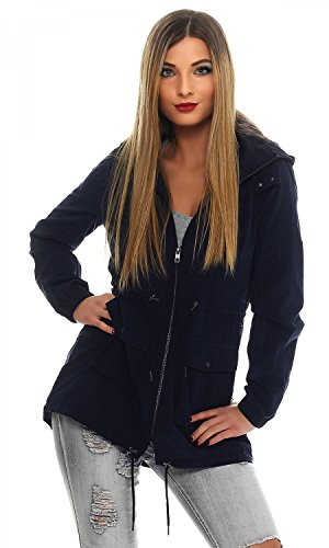 ONLY Damen Parka Übergangsjacke Kurzmantel (M, Night Sky)