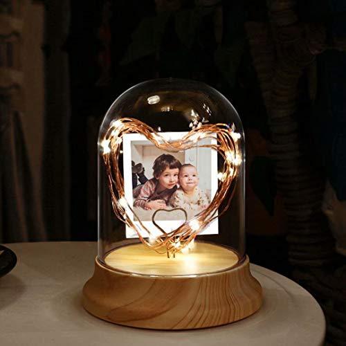 Foto personalizada personalizada Luz nocturna Marco de fotos romántico con luz LED Lámpara de mesa Regalo personalizado para bodas Aniversario Navidad Cumpleaños Decoración navideña