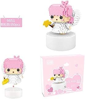 LOZ Stereo Music Box Mini Building Blocks Little Angel Assembled Toys Puzzle Girl Friend Gift (9851)