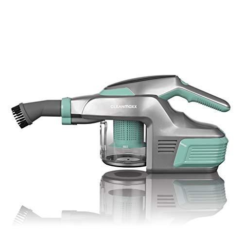 CLEANmaxx Handstaubsauger mit 4000mAh Li-Ion Akku inkl. Wandhalterung | ca. 30 min Betriebslaufzeit bei vollem Akku | inkl. Verlängerrungsrohr, 150 Watt (Mint)