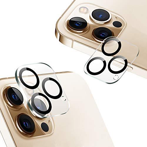 『2020秋改良モデル』AUNEOS iPhone 12 Pro 用カメラフィルム 3眼レンズ黒縁取り 露出オーバー防止 日本旭硝子製 硬度9H キズ防止 耐衝撃 高透明度 防滴 防塵 極薄 タピオカレンズ カメラ全体保護 (iPhone 12 Pro,黒縁取り2枚セット)