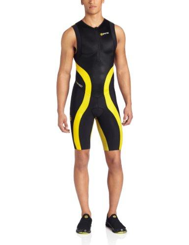 SKINS TRI 400 - Mono sin mangas de triatlón para hombre negro negro/amarillo Talla:XS