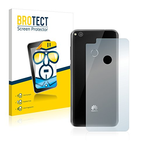 BROTECT Protector Pantalla Compatible con Huawei P8 Lite 2017 (Trasero) Protector Transparente (2 Unidades) Anti-Huellas