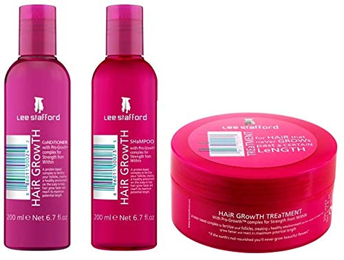 Lee Stafford Hair Growth Treatment, Shampoo & Conditioner