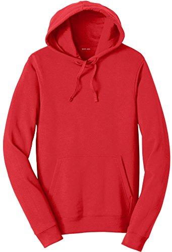 Joe's USA 8.5 oz Favorite Fleece Hoodie - Hooded Sweatshirt-Red-4XL