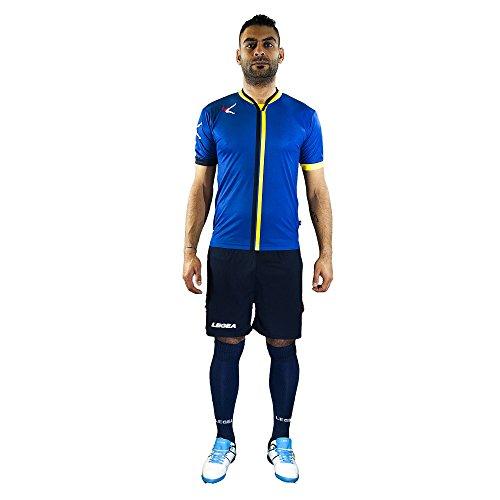 Legea KIT Beira Football Set Trikot UND Short (Azzurro-Bianco, L)