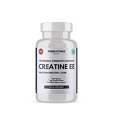 Creatine Ethyl Ester Monohydrate Powder Tablets 500mg - 120 Muscle Growth Capsules - High Strength Halal Mass Gainer Product by Primestores