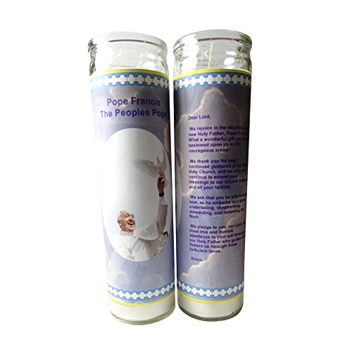 Gifts by Lulee, LLC Pope Francis The Pope of The People Pray for Me Set of 2 Candles