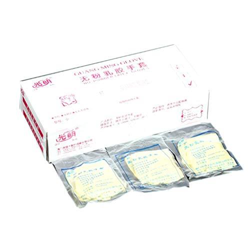 Gummihandschuhe Einweg,NAOTAI 30 Paare Einzeln Verpackt Latex-Handschuhe, Puderfrei, Laborhandschuh