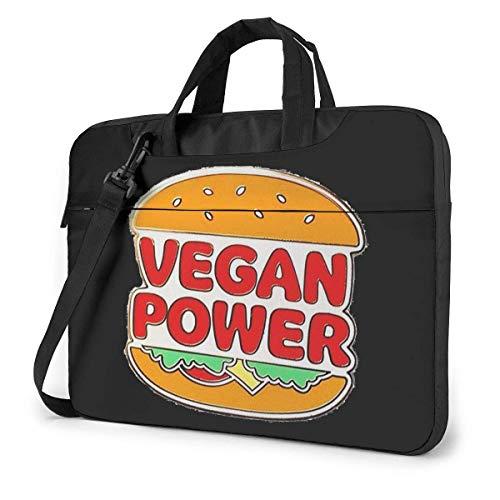 Vegan Power Laptop Schoudertas met handvat Draagbare Messenger Handtas