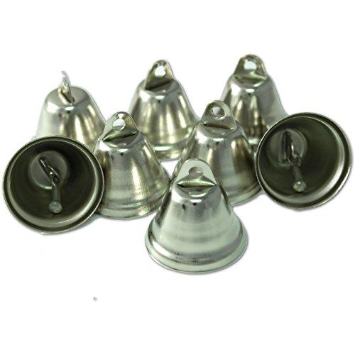Kleenes Traumhandel 50 Deko-Mini Glocken - 30x20 mm - Silber Farbend Weihnachtsglocken