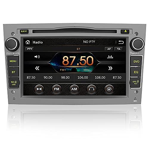 AWESAFE 2-DIN Autoradio mit Navi für Opel, 7 Zoll Touchscreen Radio unterstützt Lenkrad Bedienung USB SD RDS Bluetooth - Grau