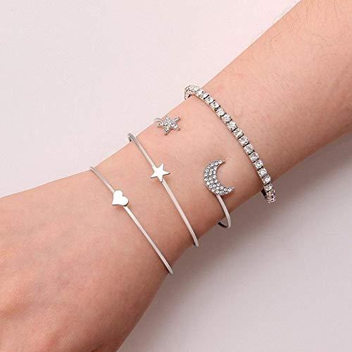 ZYJ Bohemian Handgemaakte Weave Hart Lange Tassel Armband Sets Vrouwen Nieuwe Grijze Touw Ketting Armbanden Sieraden  Bedel Armbanden 