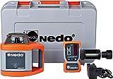 Nedo SIRIUS 1 H selbstnivellierender Rotationslaser Baulaser Nivellierlaser Laser mit ACCEPTOR 2 Digital und HD Klammer, Laserklasse 2