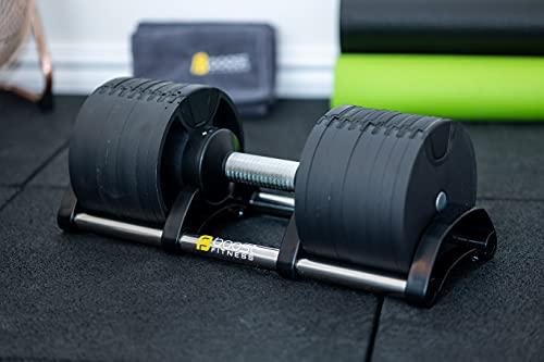 Boost - Mancuernas ajustables (1 x 32 kg, 9 en 1, para ahorrar espacio, ideales para gimnasio en casa