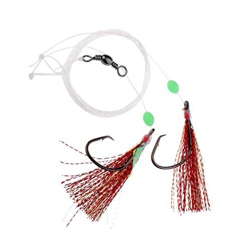 MagiDeal Ganchos de Púas Aparejos de Líder Pescador Pesca Accesorio Agarrar Pez - 4-0