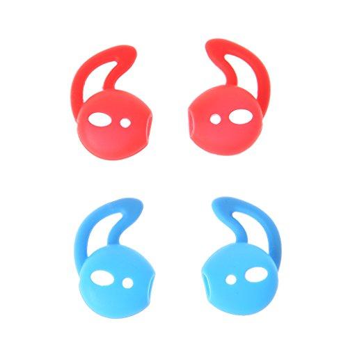 Datuun, 2 Pares de Almohadillas de Silicona para Auriculares con Gancho para Apple EarPods AirPods