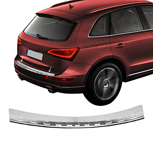 Fits Audi Q5 2009-2017 Chrome Rear Bumper Guard Trunk Sill Protector Steel   Stainless Steel Chrome Sill Cover Trim Protector