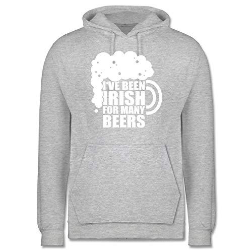 St. Patricks Day - I've Been Irish for Many Beers - weiß - 5XL - Grau meliert - Irland - JH001 - Herren Hoodie und Kapuzenpullover für Männer