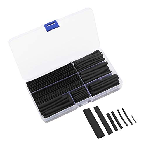 熱収縮チューブ 150pcs 絶縁チューブ 8サイズ φ2mm〜13mm 収縮 絶縁 チューブ セット 高難燃性 耐久性 感電防止 電線の端末処理 収納ケース付き