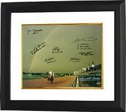 Athlon CTBLTbw12448 Spend The Buck Signed Churchill Downs Kentucky Derby Winners - 1985 Horse Racing Rainbow Photo 7 Signatures Custom Framed - 16 x 20