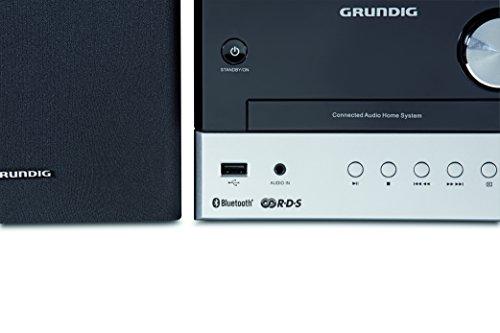 Grundig CMS 1050 DAB+ BT Kompakt Micro Anlage schwarz/Silber & Wicked Chili DVBT2 HD/DVBT Digitale Fernseh/Radio Antenne für TV/PC - schwarz, DVBT2 Antenne