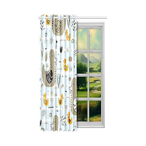 Coole Verdunkelungsvorhänge Pilz Fee Haus unter dem Baum Damen Schlafzimmer Vorhänge 52x63 Zoll (132x160cm) 1 Panel Blackout Tülle Vorhang für Schlafzimmer Wohnzimmer