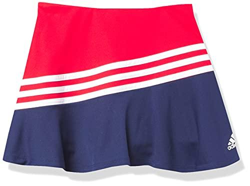 adidas Girls' Sport Skort, Vivid Red, Medium