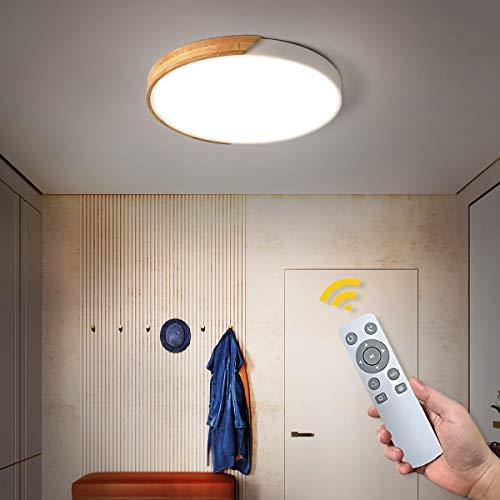 NEWSEE LED Deckenleuchte mit Fernbedienung Moderne Deckenlampe Dimmbare Wohnzimmer Kalt bis Warmwei 18W Kinderzimmer Lampe Esszimmerlampe Schlafzimmerlampe Flurlampe(Weiß, 30cm,18W)