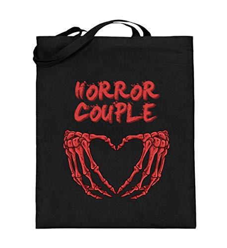 Generisch Bolsa de yute para disfraz de pareja de terrores con esqueleto, bolsa de algodn, color Negro, talla 38cm-42cm
