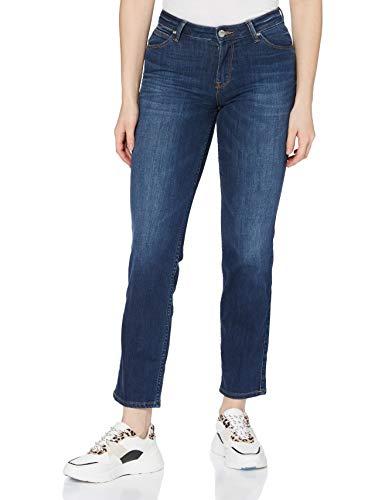 Lee Damen Marion Straight Jeans, Night Sky, 32W / 35L