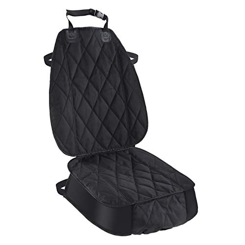 Pet Deluxe Thick Front Car Seat Cover for Car and SUV Waterproof Nonslip Seat Covers for Pet Dogs and Cats Black (1 Pack)