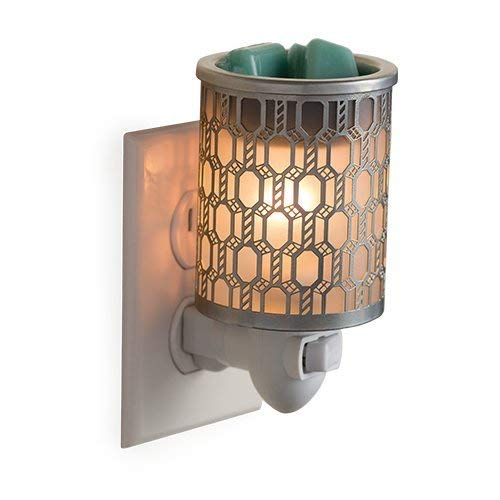 CANDLE WARMERS ETC Pluggable Fragrance Warmer- Decorative Plug-in for Warming Scented Candle Wax Melts and Tarts or Essential Oils, Filigree
