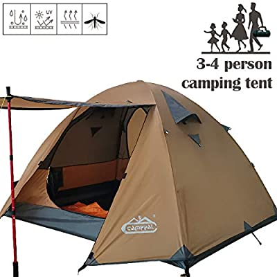 CAMPPAL Professional 3-4 Person 4 Season Mountain Tent Super Resistance to Wind and Rain, Lightweight Backpacking Tent, Strong Durable Waterproof Outdoor Trekking Hunting Hiking Camping Tent (MT066)