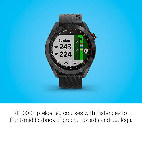 Garmin Approach S40 Smartwatch Golf Acier Inoxydable Noir avec Bracelet Noir