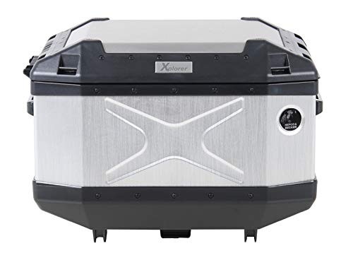 H&B Motorradtopcase Xplorer Aluminium Topcase 45 Liter Silber, Unisex, Tourer, Ganzjährig
