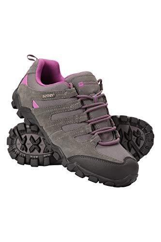 Mountain Warehouse Belfour Wanderschuhe für Damen - leichte Laufschuhe atmungsaktiv, Allwetterschuhe zum Schnüren - Für Trekking, Fitness und Jogging Grau 40 EU