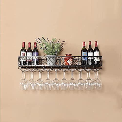 YIXINHUI Boîte de Rangement de Cuisine Table à vin montée Murale Bouteille de vin Verre Verre Porte-Plantes européennes Photos Affichage de vin Support de Rangement pour Cuisine Salle à Manger Bar