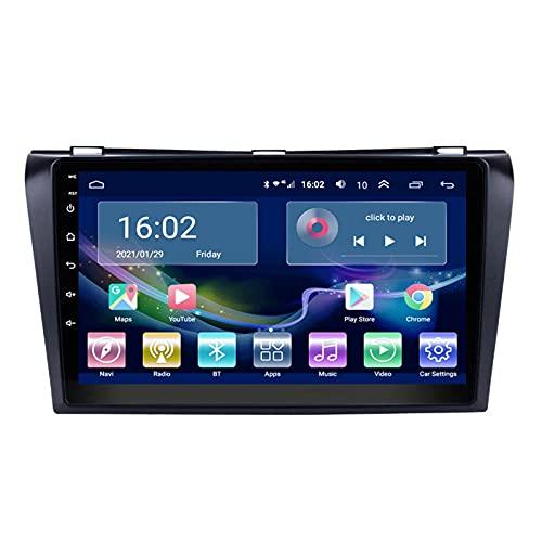 QWEAS Autoradio per Mazda (3) 2004-2009 Radio Navigation Player Android 10.0 unità Principale con Carplay Touchscreen IPS da 10,1 Pollici BT/WiFi con Telecamera di Backup