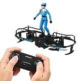 Emoshayoga RC Stunt Parapente Drone Motor sin escobillas Drone Principiantes y Regalo para niños(Blue)