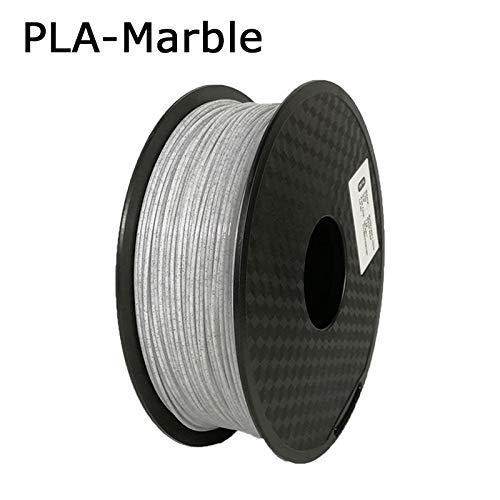 SDFW Exceptionnel Imprimante 3D PLA Filament Filament 1.75mm Précision dimensionnelle +/- 0,02 mm 1 kg 3D Matériel 2.2lbs 343 Millions Impression for RepRap dureté (Color : Marble)