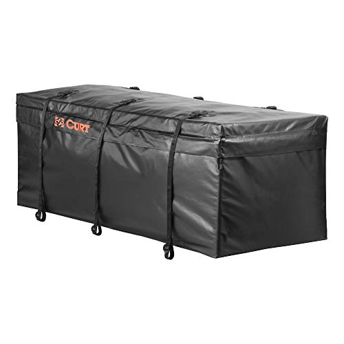 CURT 18211 56 x 22 x 21-Inch Weather-Resistant Black Vinyl Cargo Bag for Hitch Carrier