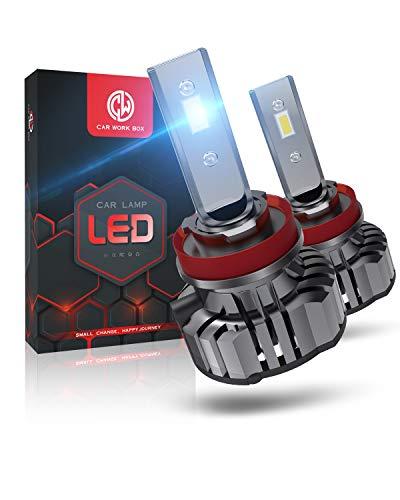 H11 LED 12000LM Bombillas Faros Delanteros para Coches, Kits de Conversión LED 12V, 6000K