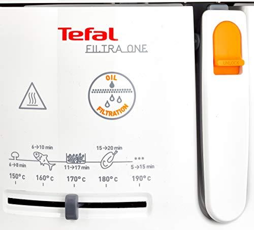 Tefal FF1631 Fritteuse One Filtra / 1.900 Watt / wärmeisoliert/ 1,2 kg Fassungsvermögen / weiß/anthrazit - 5