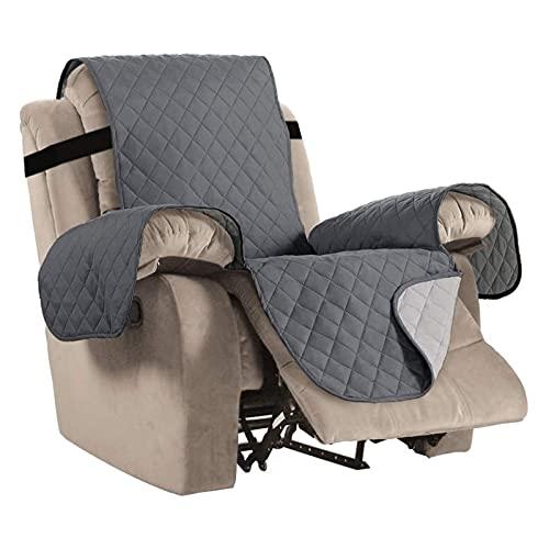 Mimosapud wasserdichte Recliner Stuhlabdeckung, Sofa Couch Abdeckungen Sofa Matte für Wohnzimmer Möbelschutz Couch Mantel Sofamöbel-Set (Color : Dark Grey, Specification : 22x79in)