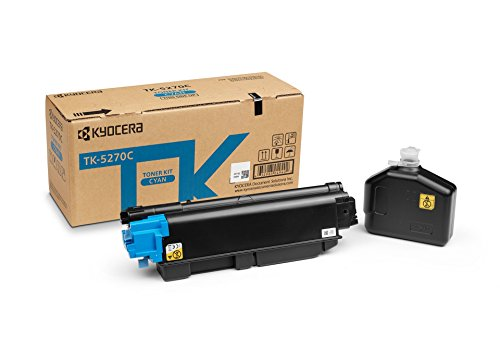 Kyocera TK-5270C Cyan. Original Toner-Kartusche (1T02TVCNL0. Kompatibel für P6230cdn, M6230cidn und M6630cidn)