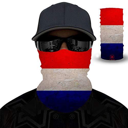 PAWANG Bufanda mágica 3D Canadá Japón Francia Italia España Corea del Sur Brasil Bandera Decoración de la Cara de Halloween 50x25cm