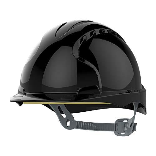 JSP AJF160 001 100 EVO3 OneTouch Slip casco a cricchetto, con sfiato, nero